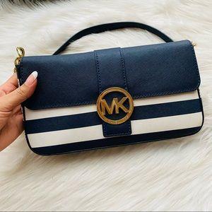 MICHAEL KORS Striped Fulton Flap Bag